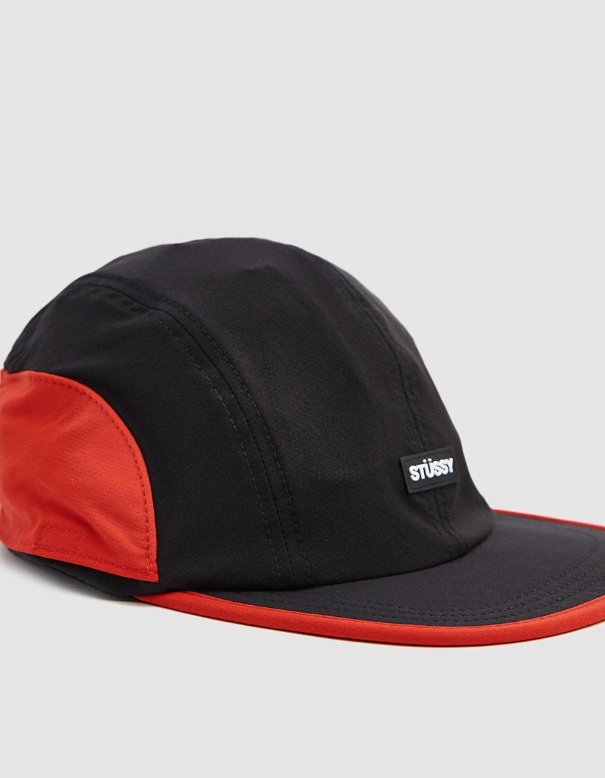bda0dac57ba Lyst - Stussy Two Tone Bungee Camp Cap in Black for Men