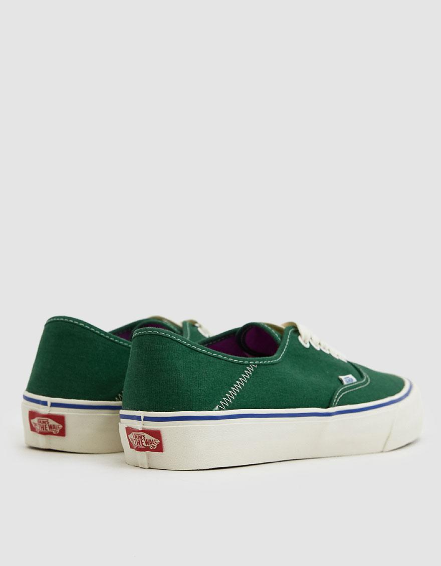 a831da53e386 Vans - Green Authentic Sf Salt Wash Sneaker for Men - Lyst. View fullscreen