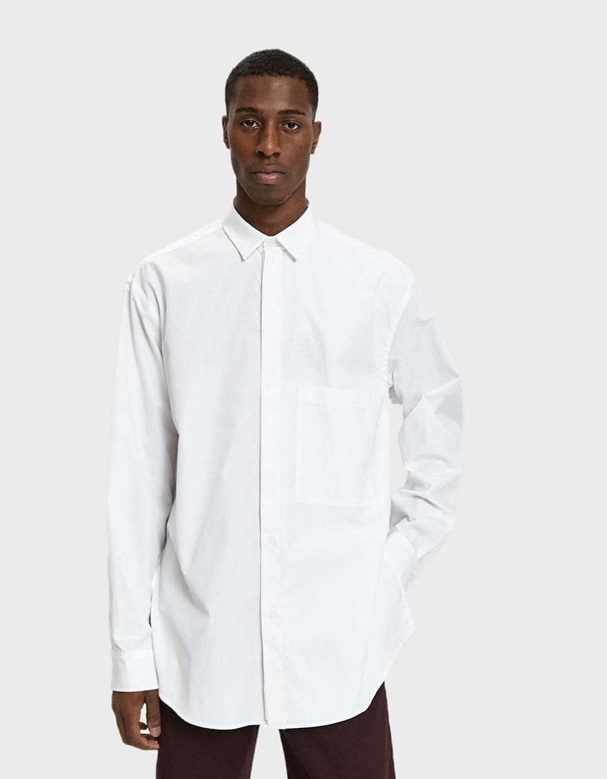 f7ed598864043 Lyst - OAMC Illusion Poplin Shirt in White for Men