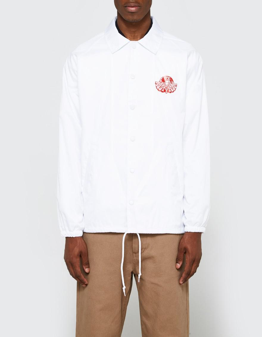 a110269a42464 Brain Dead New Order Coaches Jacket in White for Men - Lyst