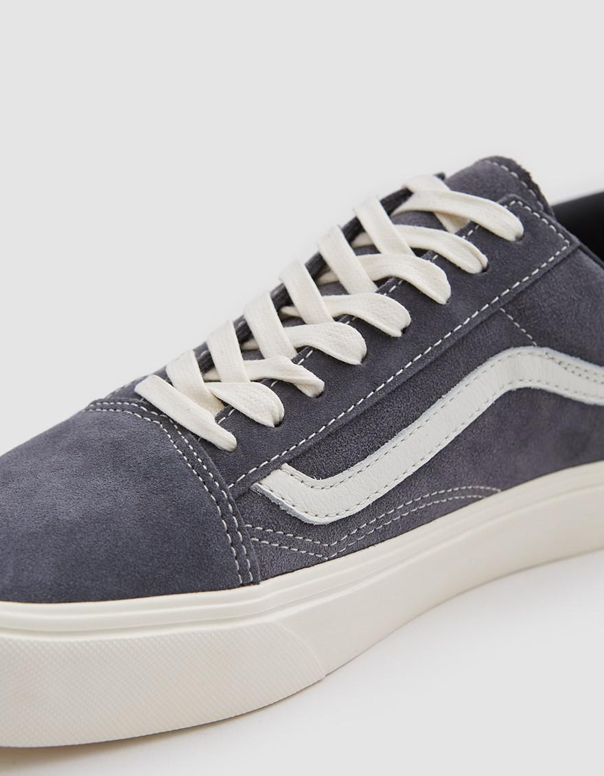 af3fd3a90adbb7 Vans Old Skool Lite Lx Suede Sneaker In Grey Pinstripe in Gray for ...