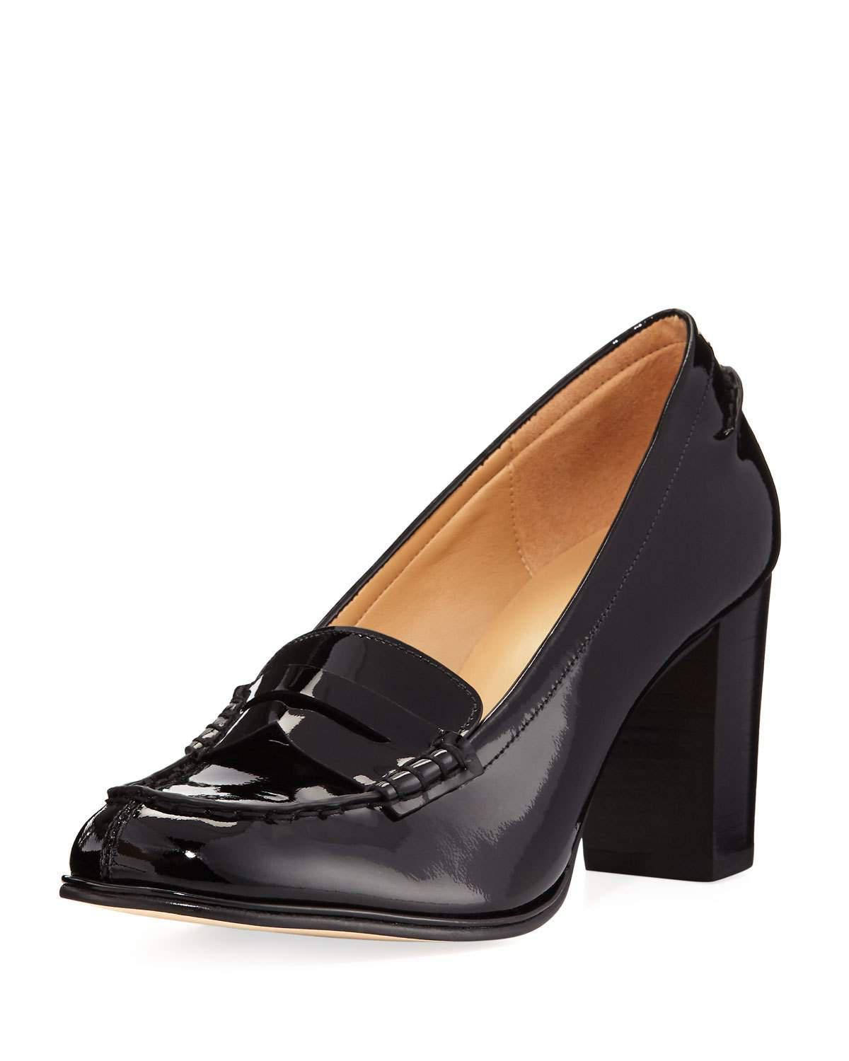 92f1b6ef665 Lyst - MICHAEL Michael Kors Bayville Patent Leather Loafer Pump in Black