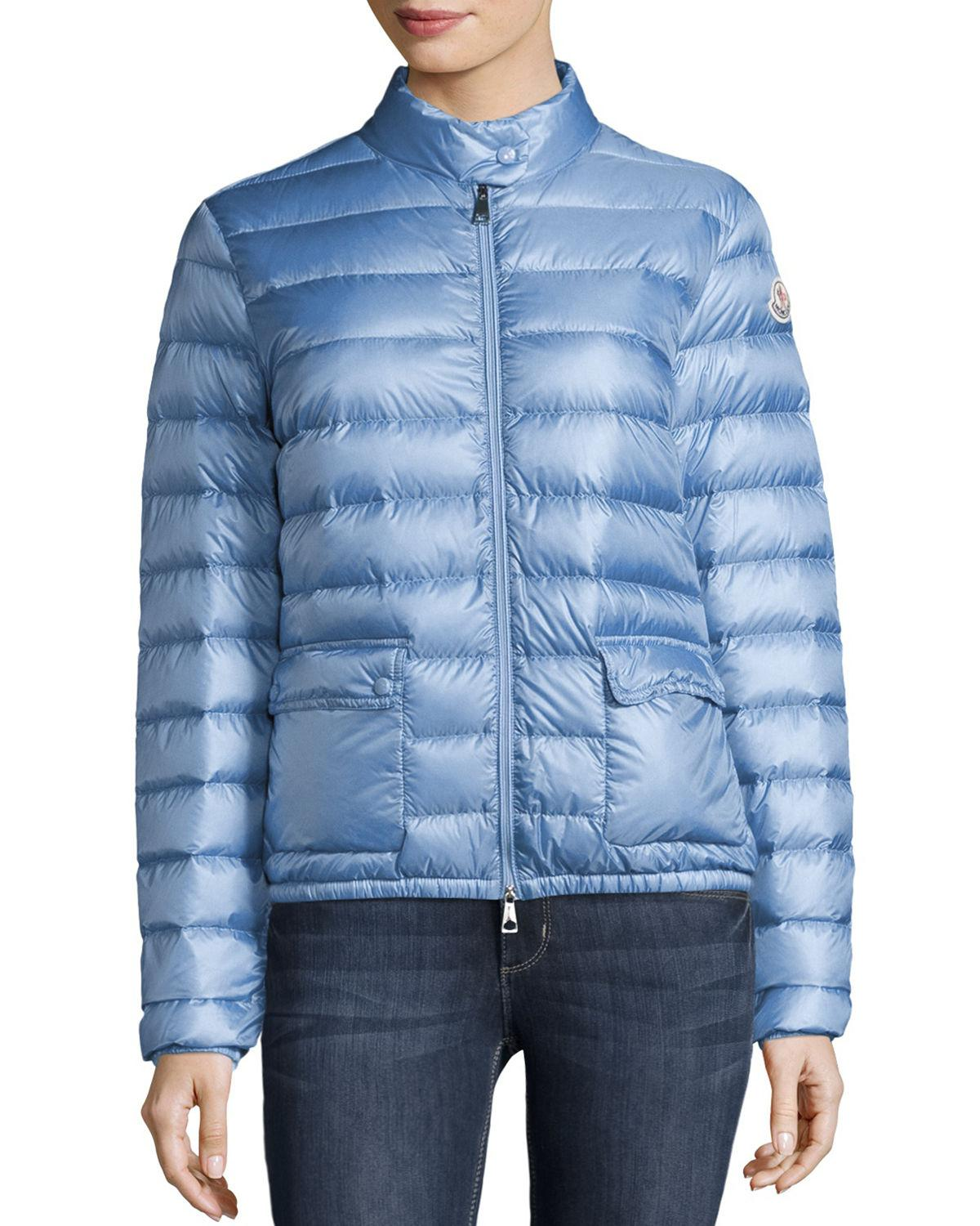 89228059683f Moncler Lans Collared Down Jacket in Blue - Lyst