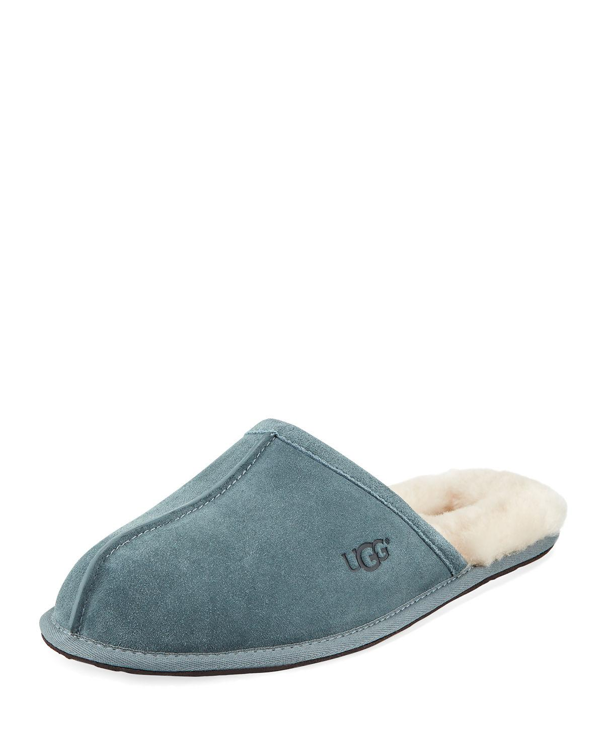 1e910219199 Lyst - Ugg Men s Scuff Shearling Mule Slipper in Blue for Men