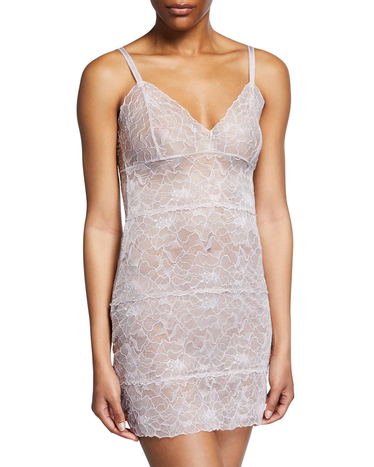 d7b16b4166 Lyst - Samantha Chang Glamour All-lace Slip in Blue