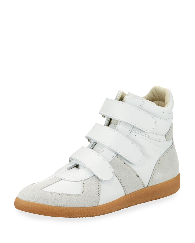 White Triple Velcro Sneakers Maison Martin Margiela kKLLy55U