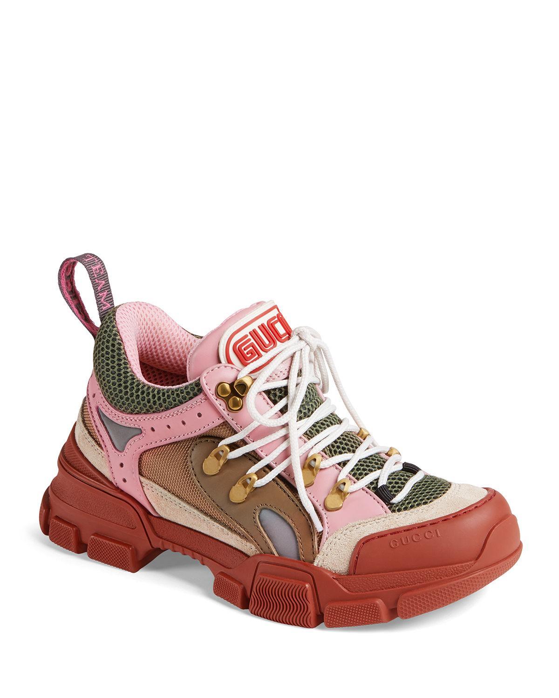 d25b8534db8 Lyst - Gucci Flashtrek Hiker Sneaker in Red