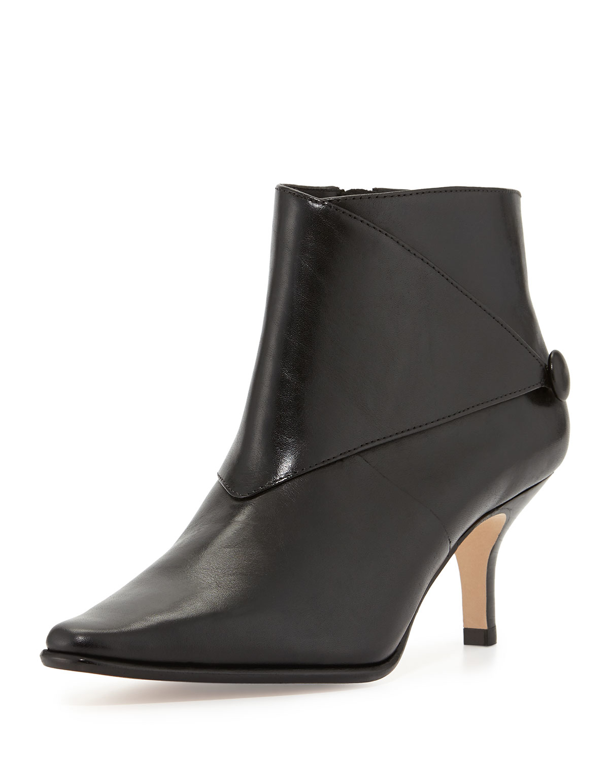 Lyst Donald J Pliner Loli Leather Ankle Boot In Black
