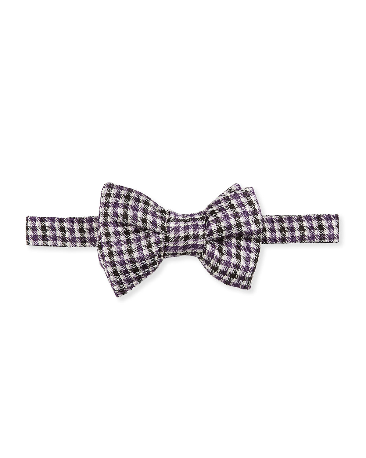 tom ford houndstooth stripe bow tie in purple for lyst