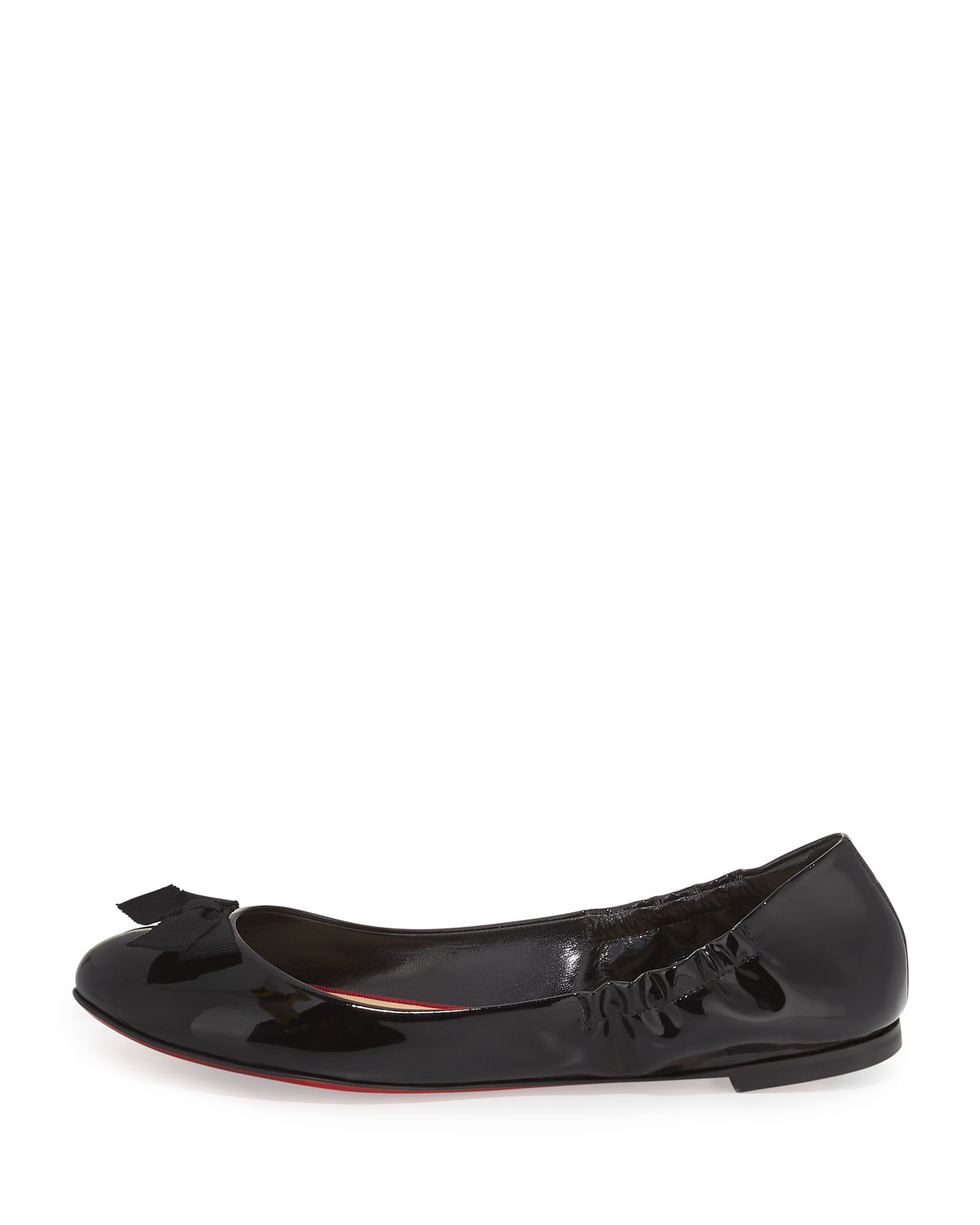 8d2dcf8d06bb Lyst - Christian Louboutin Gloriana Patent-Leather Ballet Flats in Black