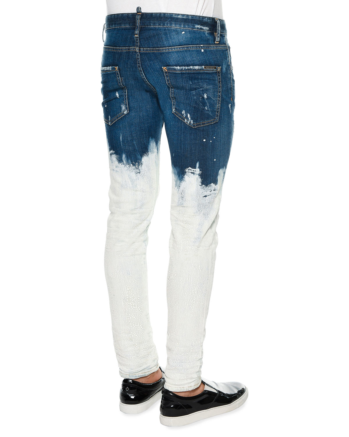Lyst - Dsquared² Bleach-dipped Slim-fit Denim Jeans in ...
