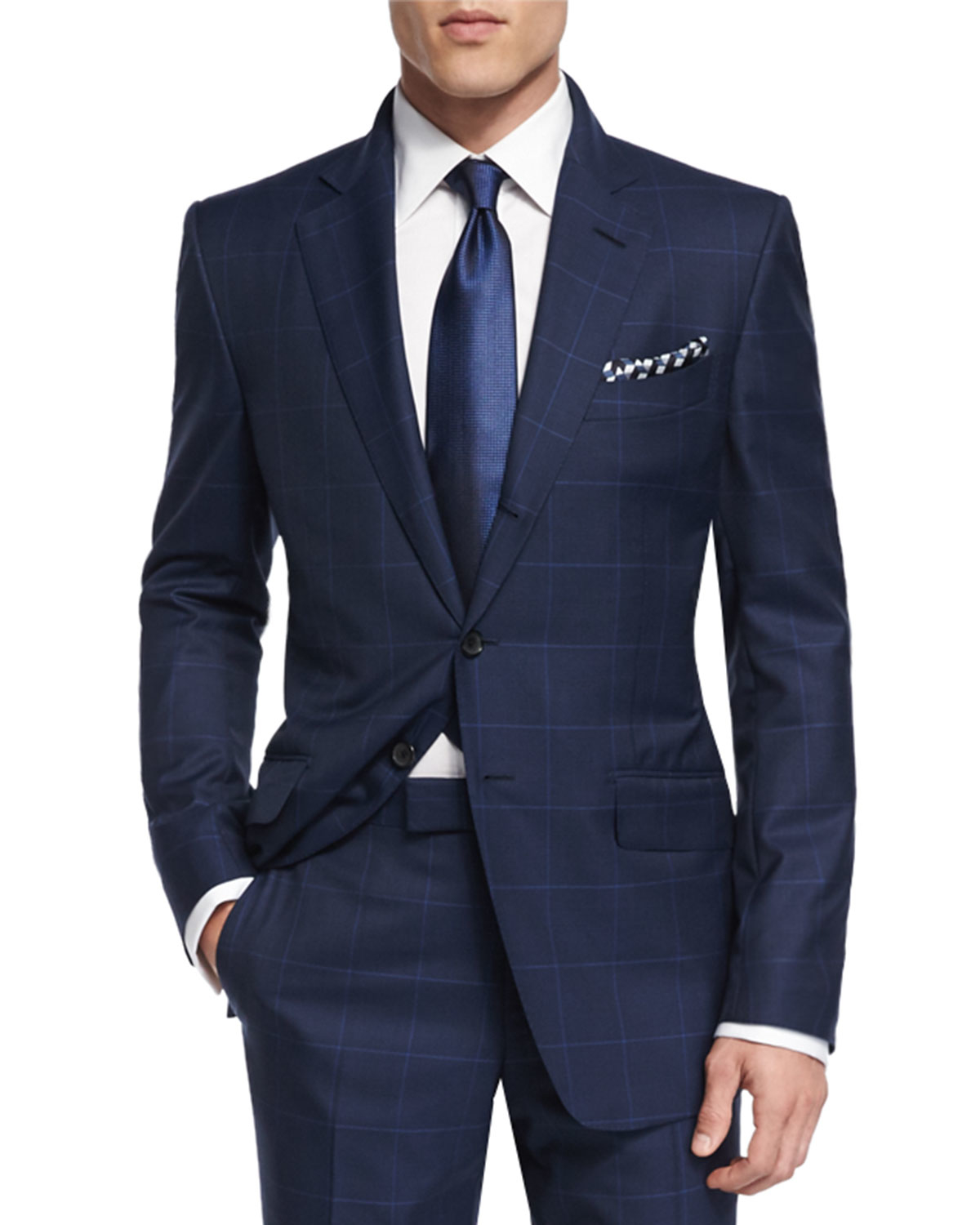Tom Ford O Connor Base Plaid Suit In Blue For Men Lyst
