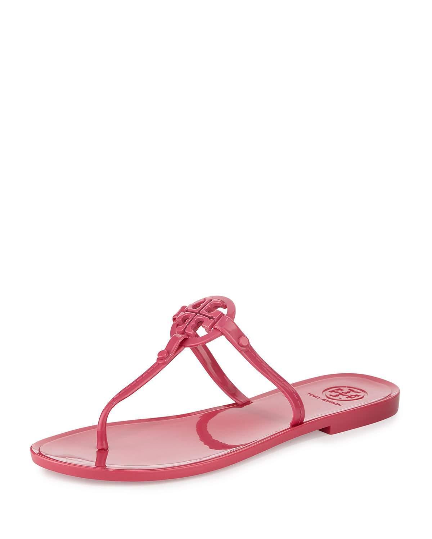 269fdb62f874 Lyst - Tory Burch Colori Logo Jelly Flat Thong Sandal in Pink