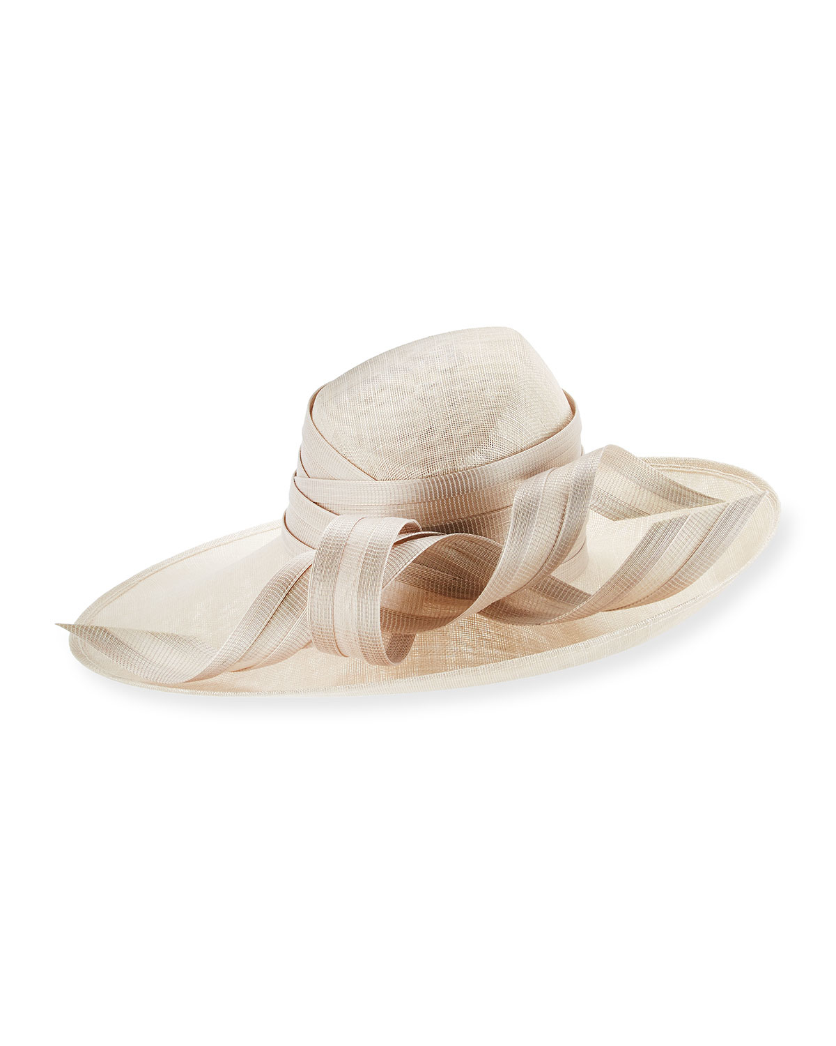99357944553 Lyst - Philip Treacy Small Straw Oval Hat W  Ribbons in Natural
