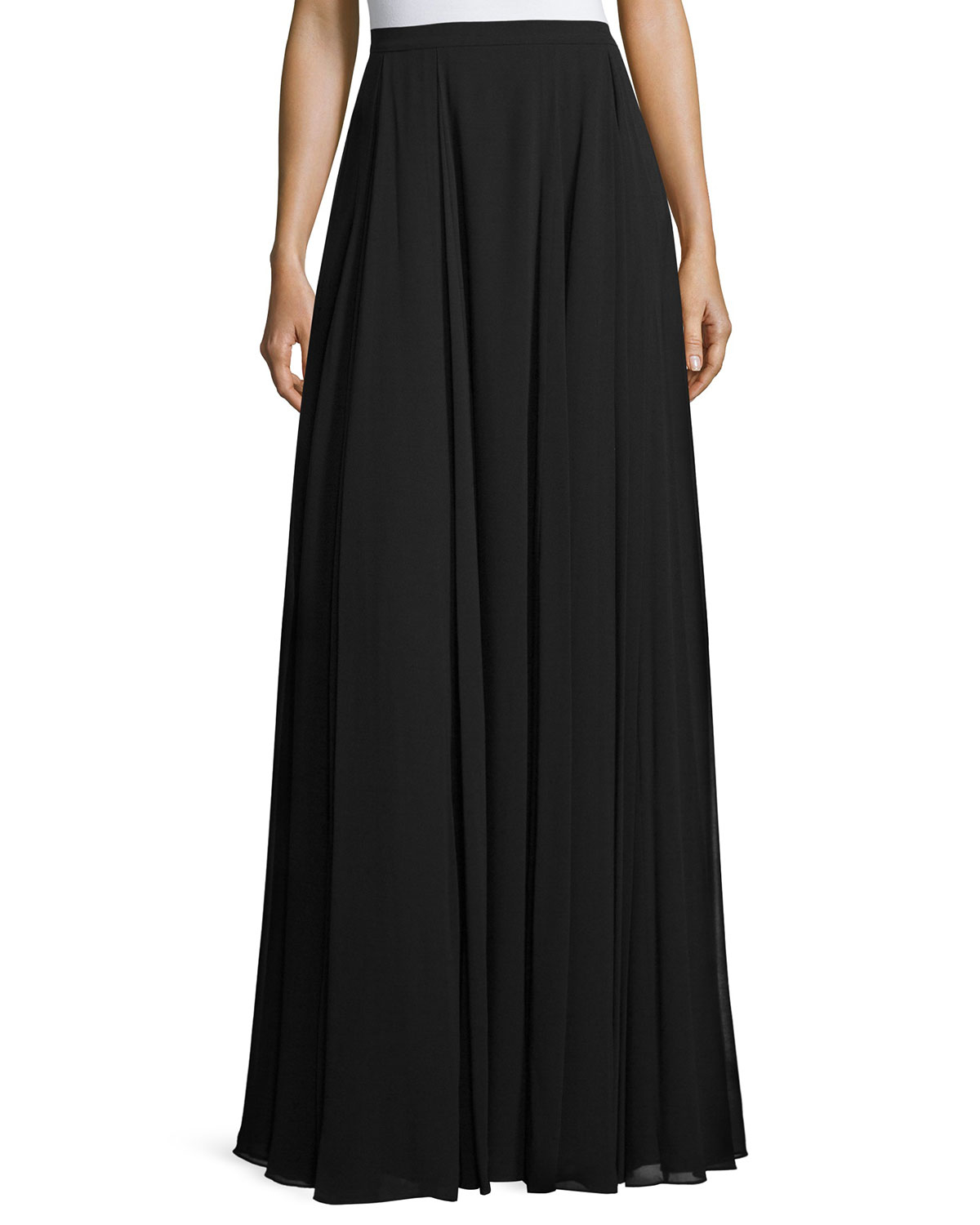 pleated a line maxi skirt in black lyst