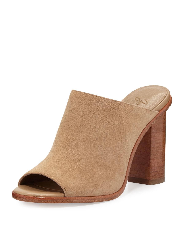 Joie Clementine Suede Chunky Heel Mule Sandal In Brown Lyst