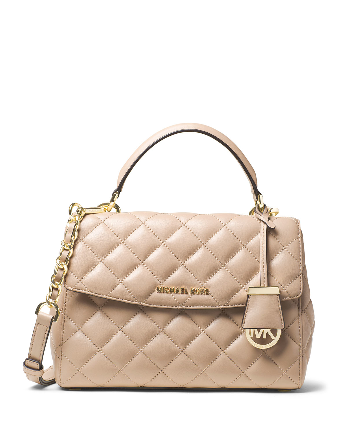 83c981ff96bf0 Lyst - MICHAEL Michael Kors Ava Small Quilted Leather Satchel Bag in ...