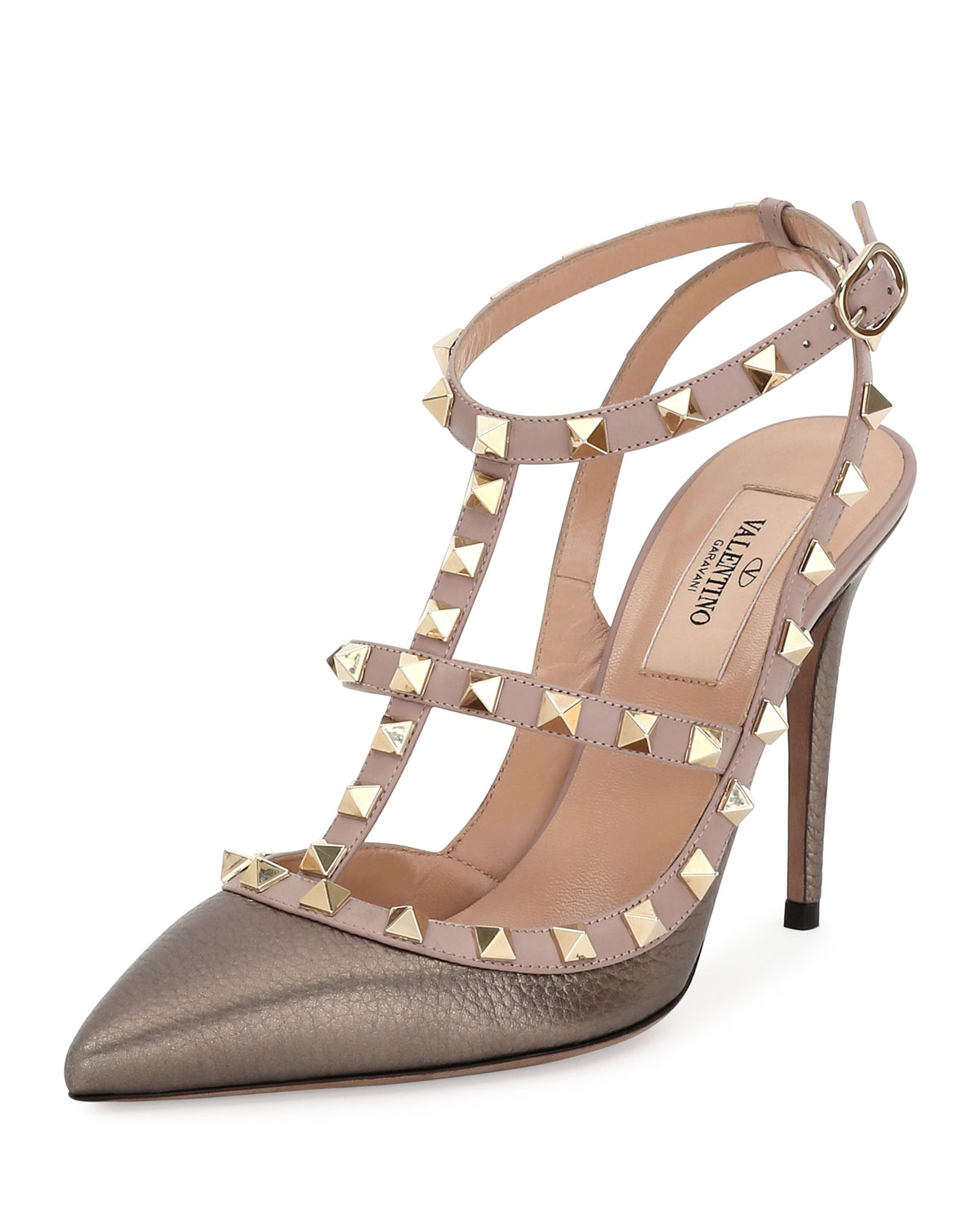 Valentino Rockstud Leather 100mm Pump in Multicolor | Lyst