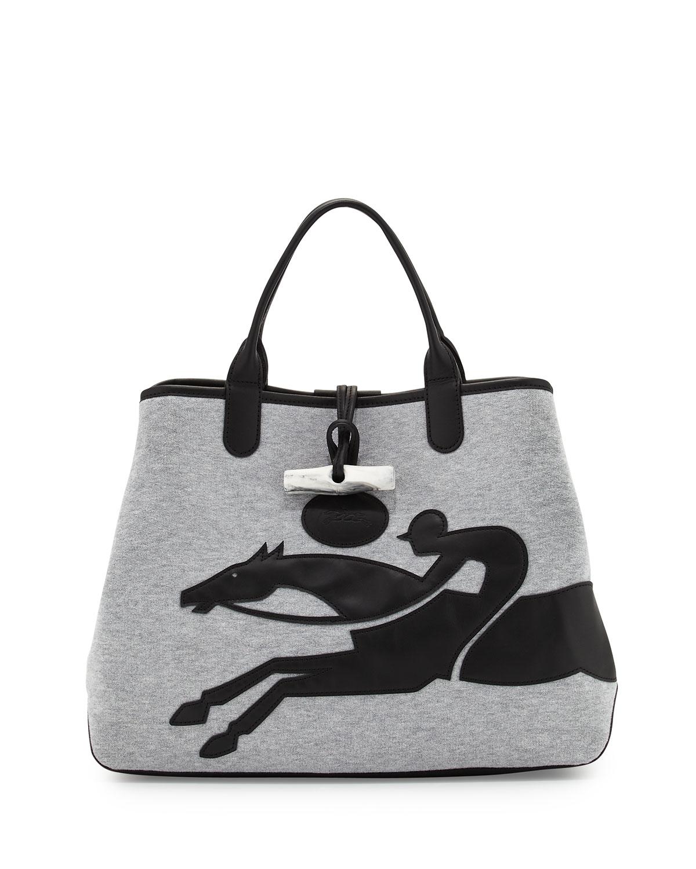 ba3977a4ad7d Lyst - Longchamp Roseau Sweet Reversible Large Tote Bag in Gray