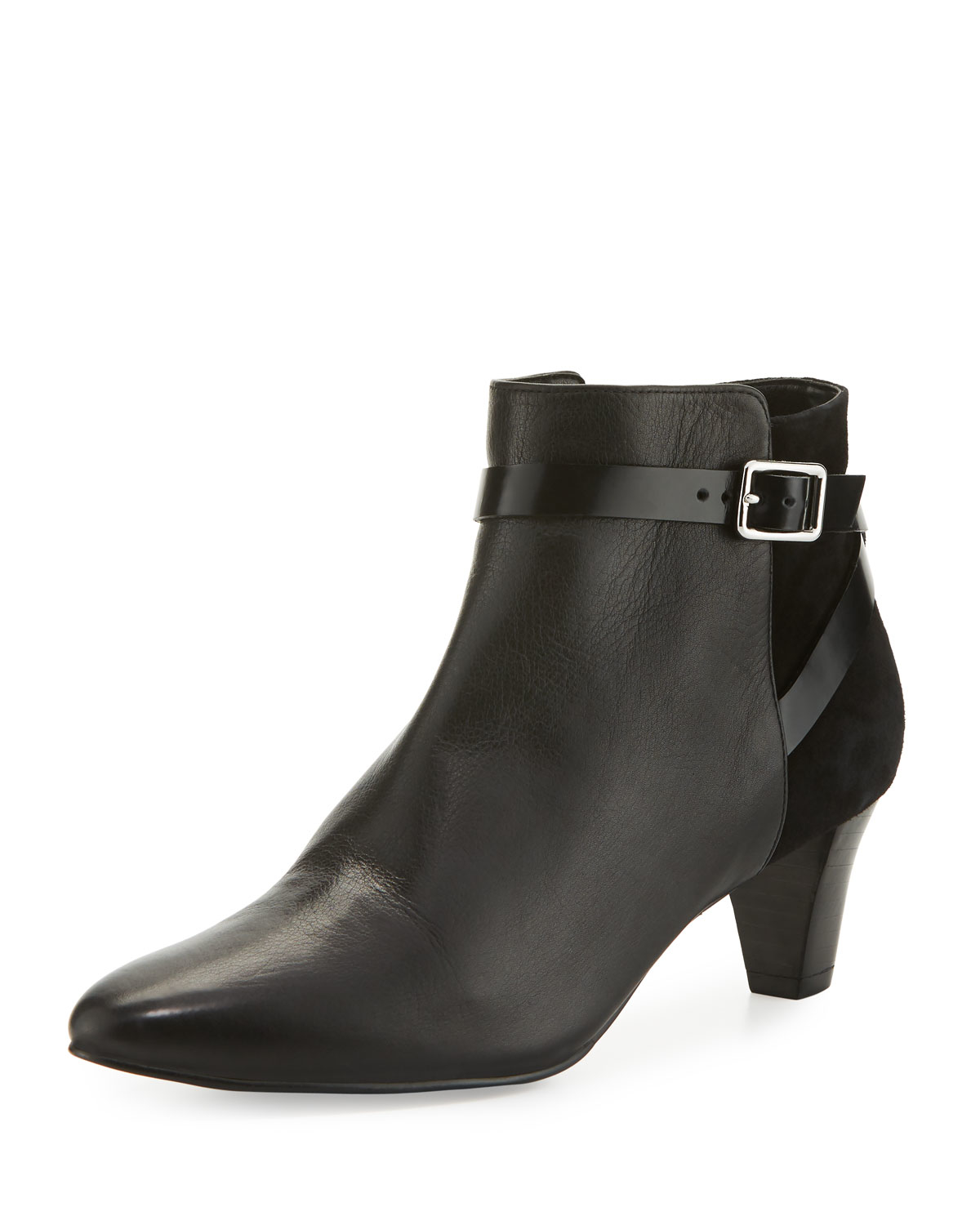 Lyst Cole Haan Sylvan Leather And Suede Ankle Boots In Black