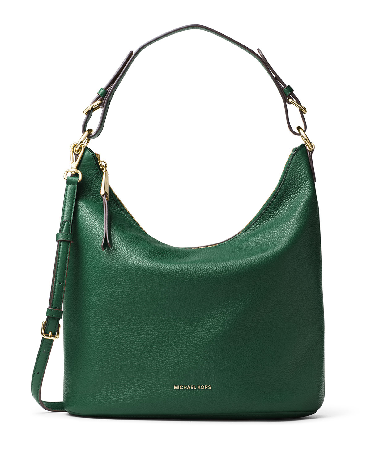 Michael michael kors Lupita Large Leather Hobo Bag in Green | Lyst