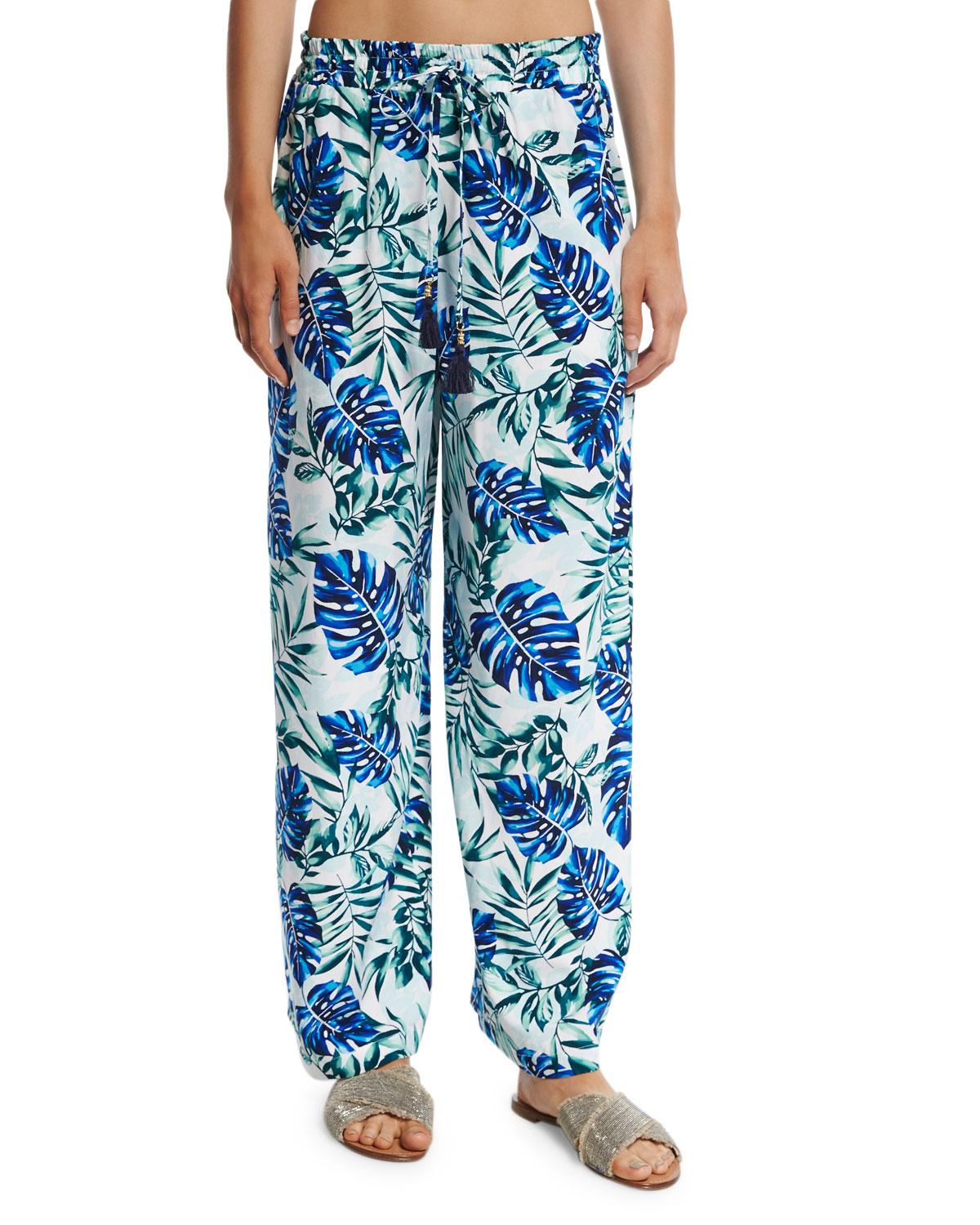 Tommy Bahama Fronds Floating Wide Leg Pants In White Lyst