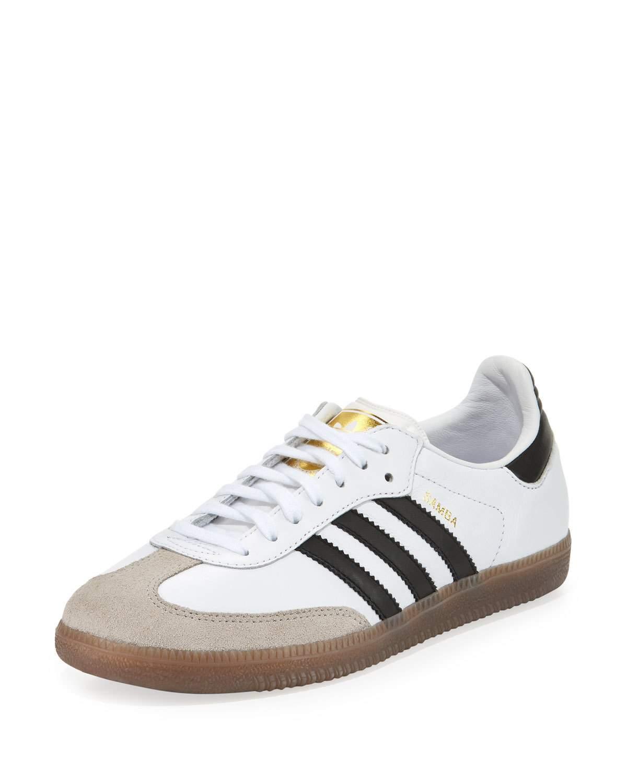 adidas originals samba classic leather sneaker in white lyst. Black Bedroom Furniture Sets. Home Design Ideas