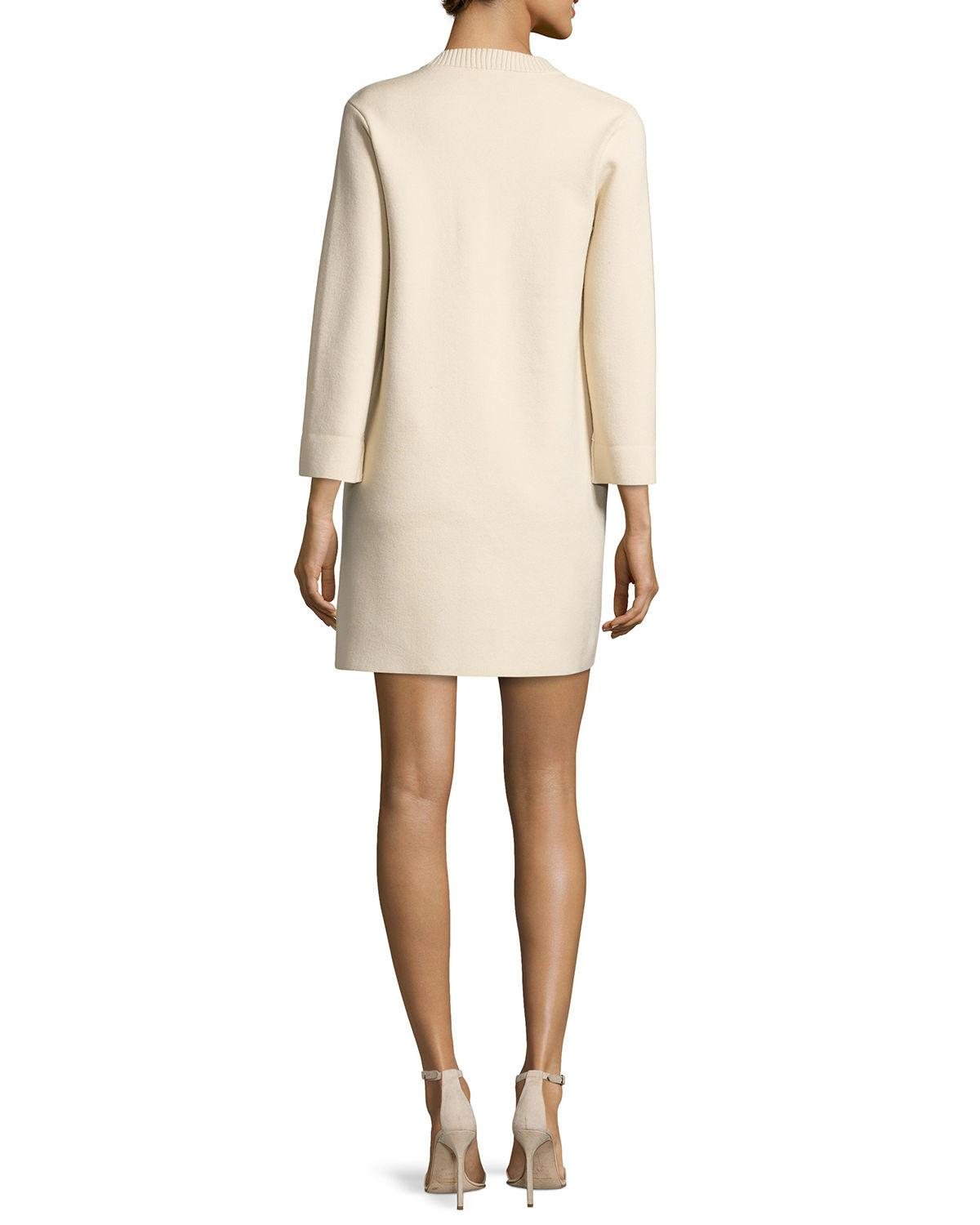Theory Woman Patrinelle Lace-up Cotton And Wool-blend Mini Dress Cream Size L Theory Cheapest Price For Sale Pay With Paypal Online Cheap Nicekicks Discount Sale Online Clearance Collections HX0uz