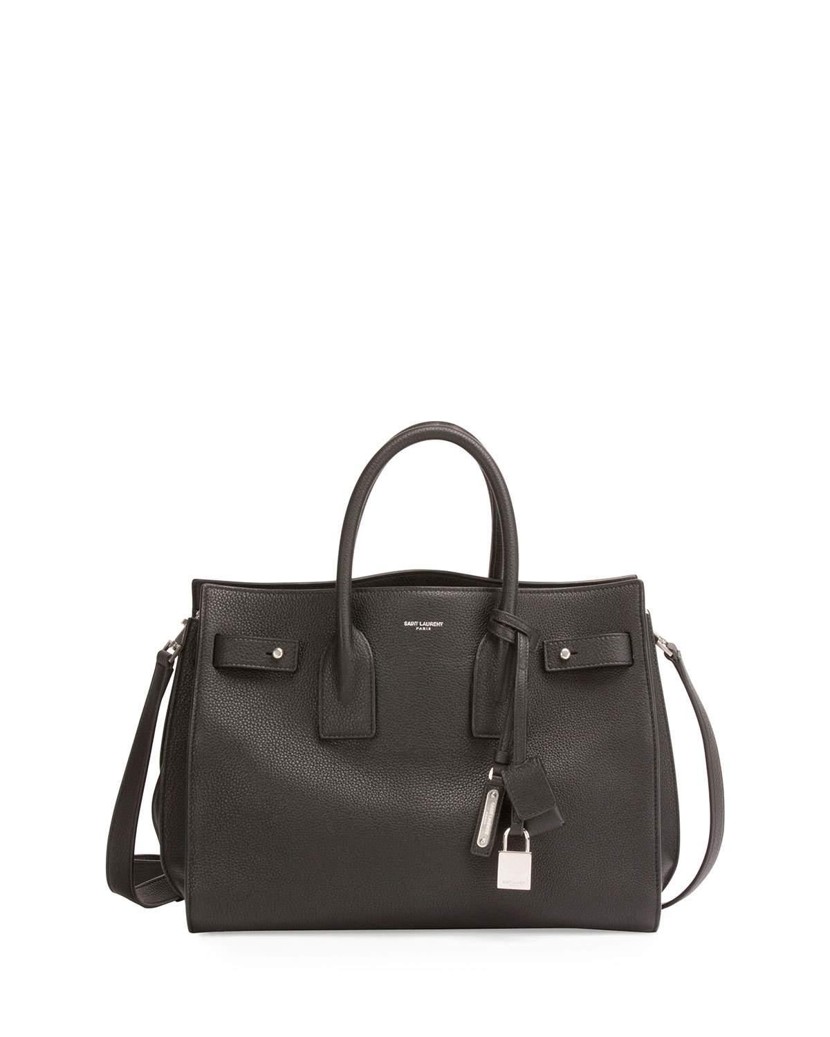 Saint Laurent Sac De Jour Small Supple Leather Bag In