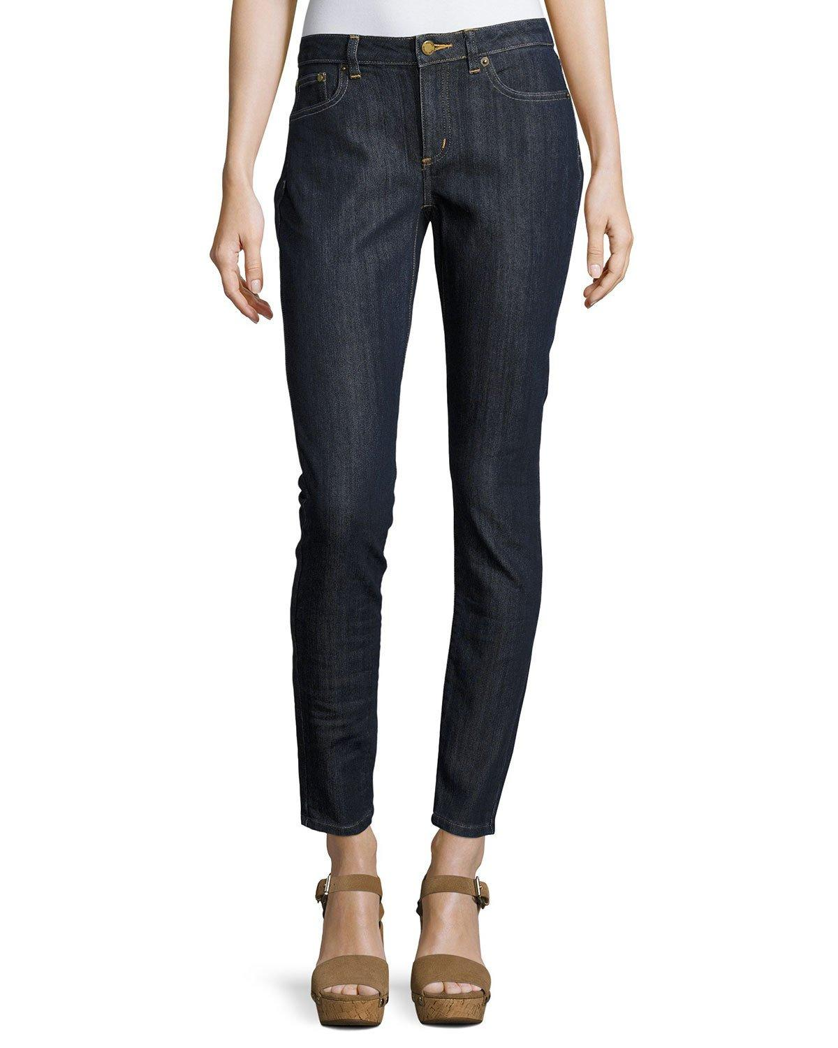 michael michael kors selma skinny ankle jeans in blue lyst. Black Bedroom Furniture Sets. Home Design Ideas