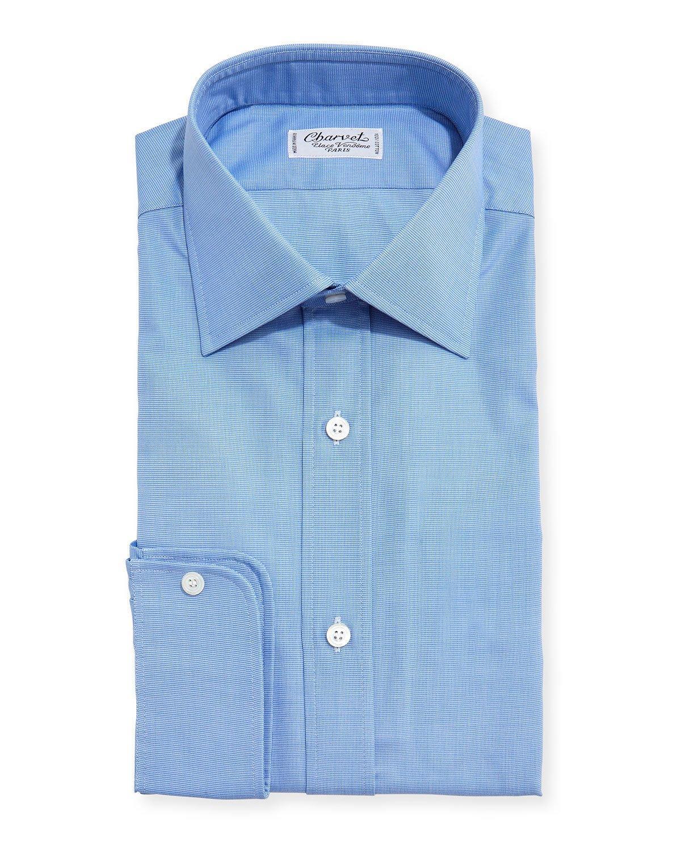 Charvet Small Check Dress Shirt In Blue For Men Lyst