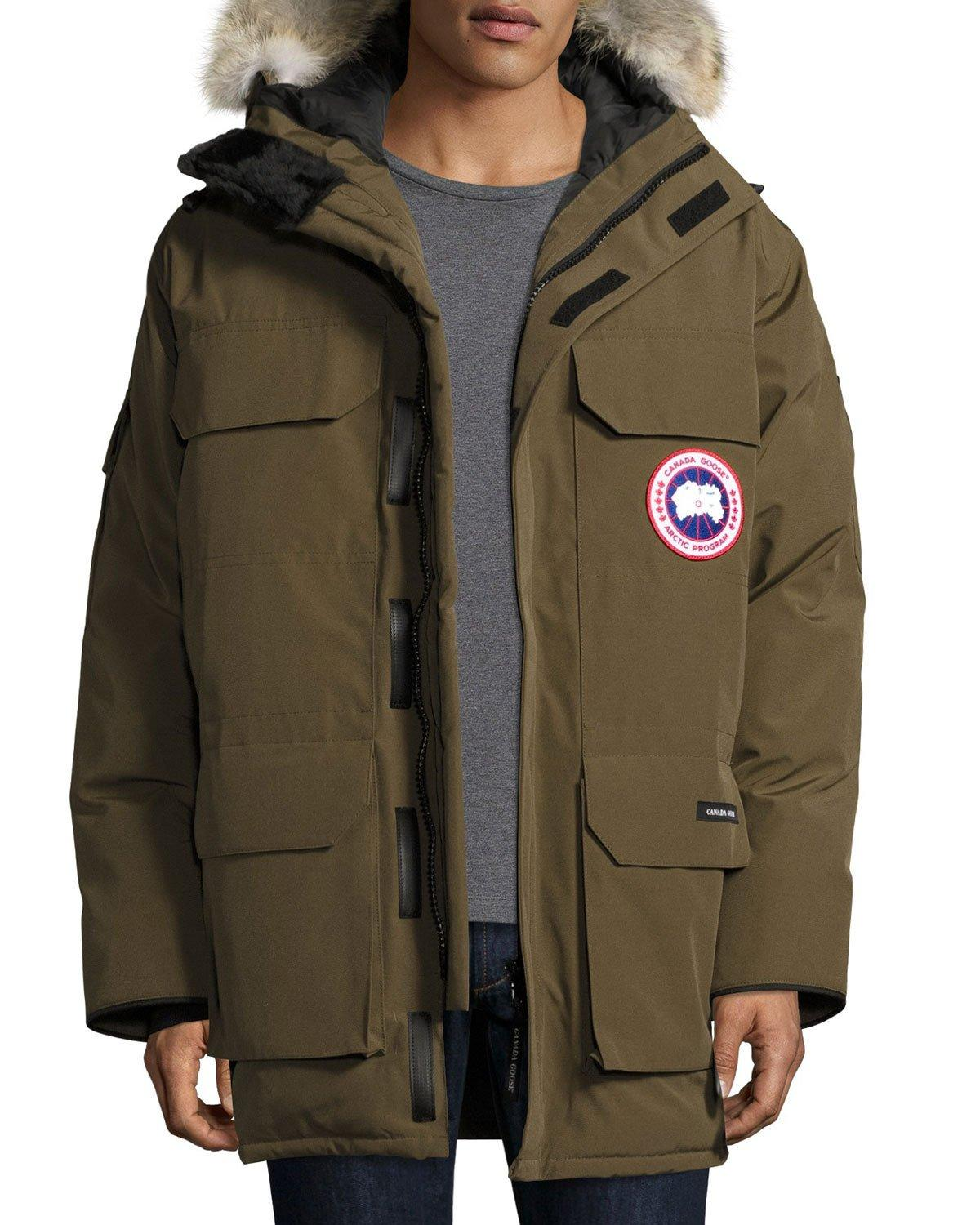 Canada Goose Expedition Hooded Parka With Fur Trim In