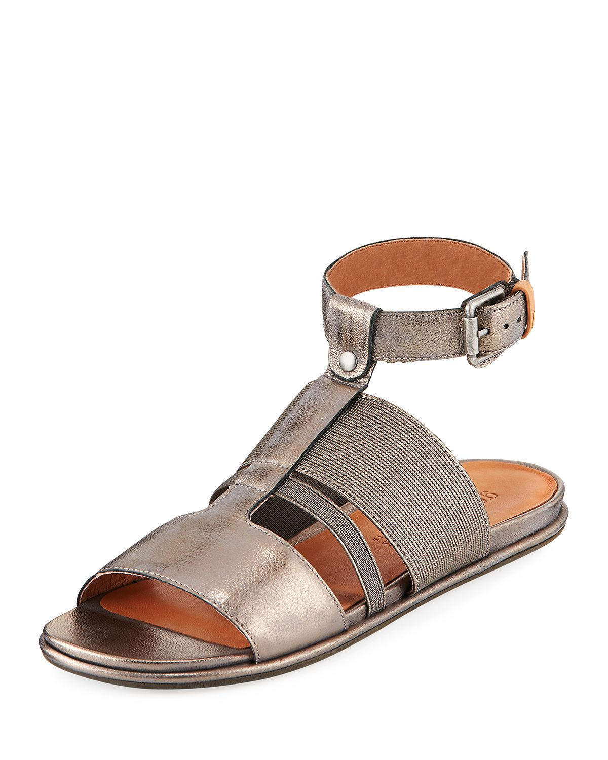 Gentle Souls Ophelia Easy Flat Sandal with Stretch Strap 27YuD