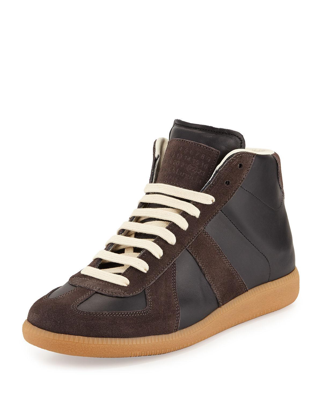 Mens Suede & Leather Triple-Strap Sneakers Maison Martin Margiela OUq8Vxdnq