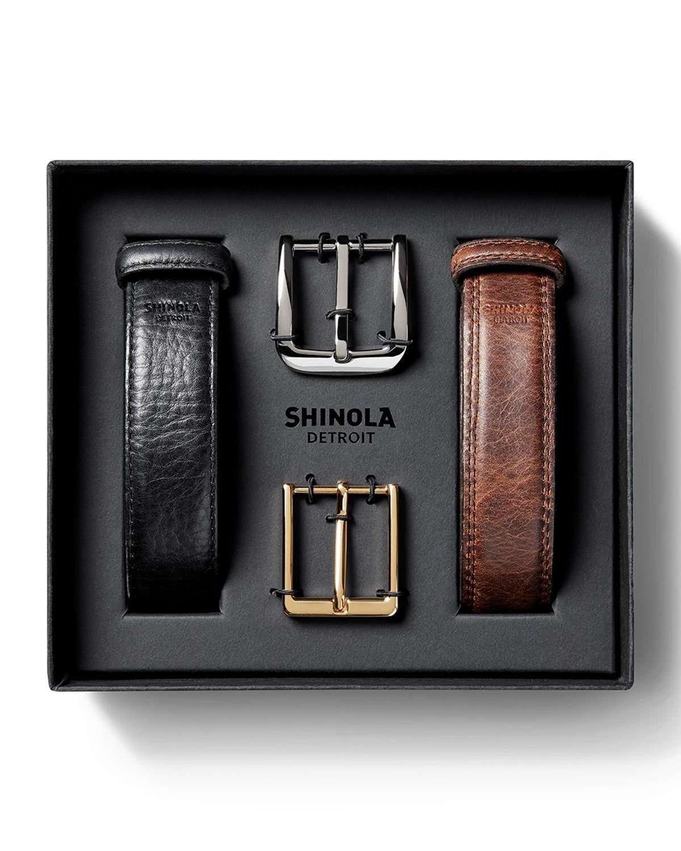 c2484454a42 Lyst - Shinola Men s Leather Belt Boxed Gift Set in Black for Men