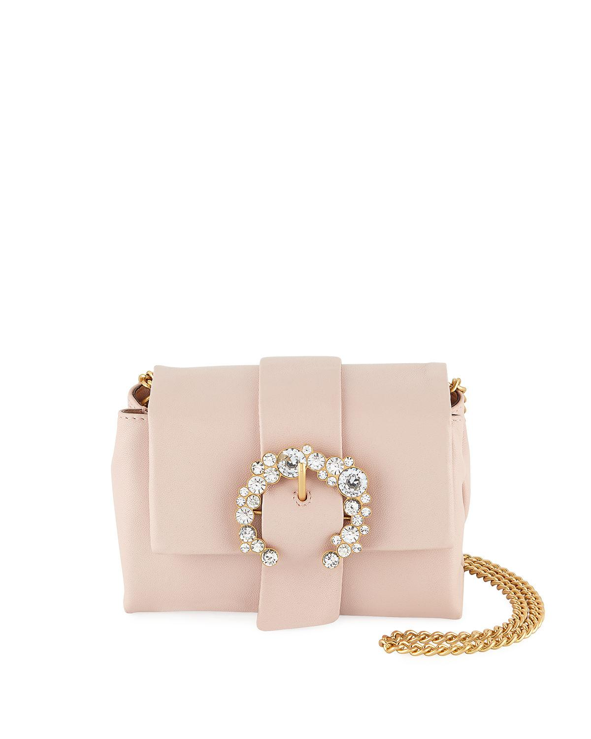 0e0e2aa88fb Lyst - Tory Burch Greer Mini Leather Crossbody Bag in Pink - Save 42%