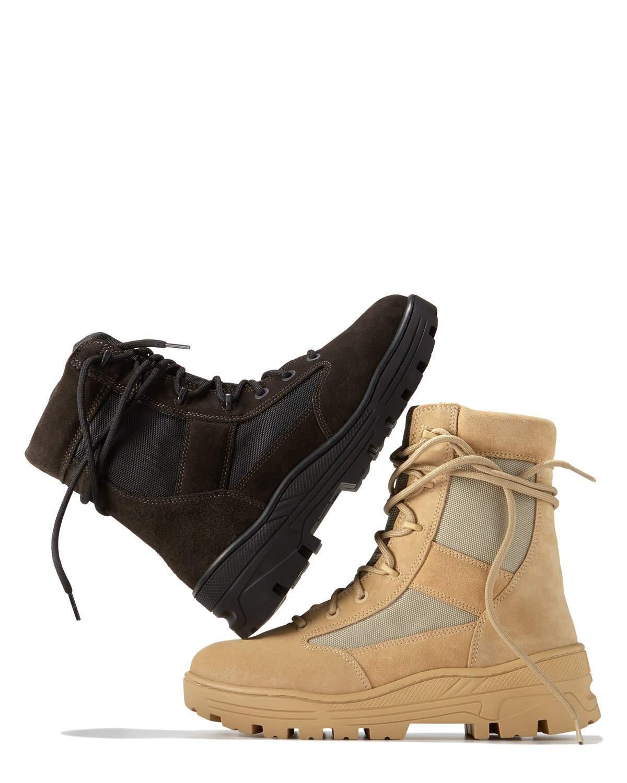 edc14b88320 Lyst - Yeezy Men s Suede   Mesh Combat Boot in Gray for Men