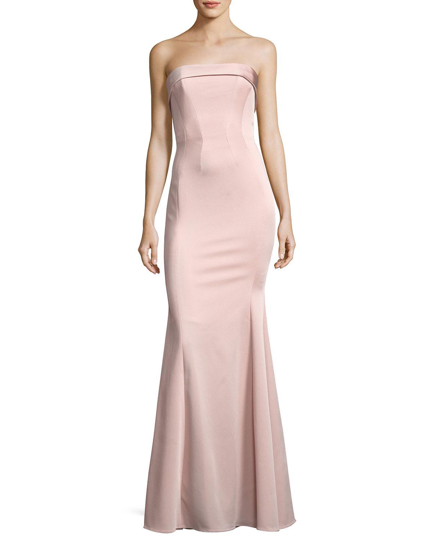 Lyst - Zac Zac Posen Malena Strapless Trumpet Evening Gown in Pink
