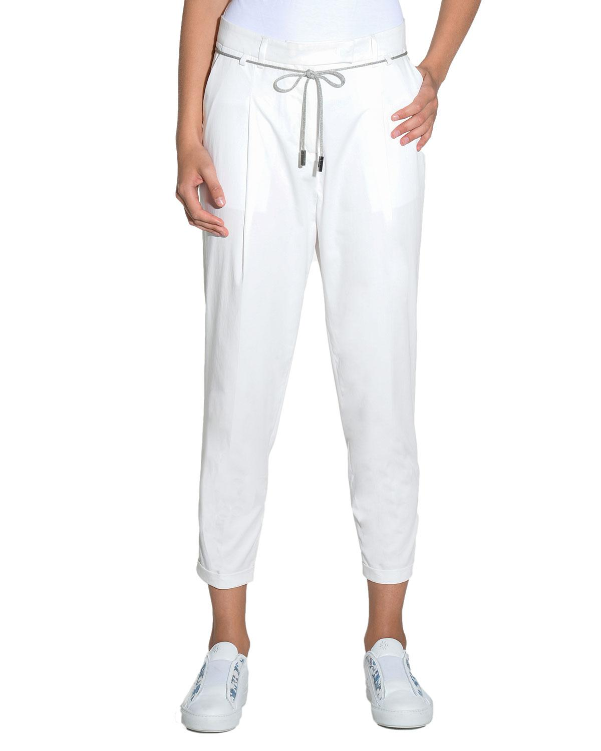 cropped trousers - White Eleventy Manchester Great Sale Online Release Dates For Sale Buy Cheap Sale Cheap Sale Sale Outlet With Paypal Order Online JSN7h