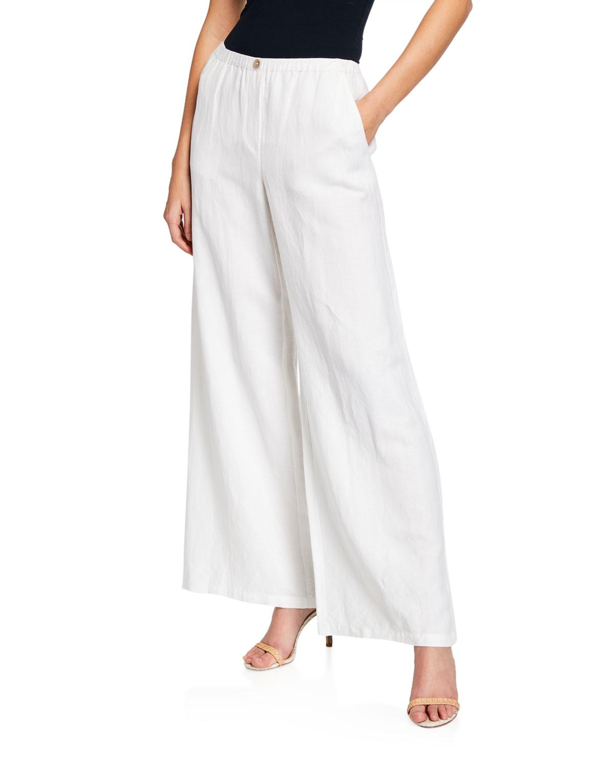 e45ae1489ccd3 Lyst - Nic+Zoe Refreshed Wide-leg Linen Pants in White