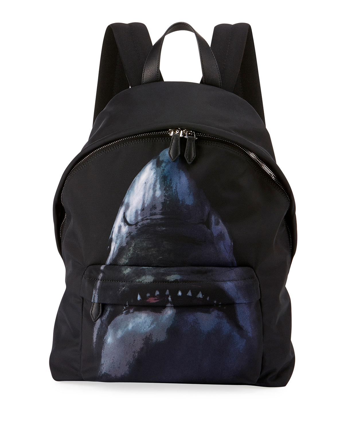Lyst - Givenchy Shark-print Nylon Backpack in Black for Men 7bd21295d050a