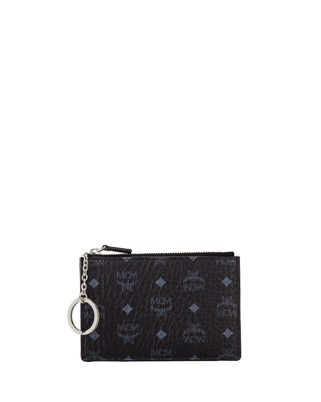 ebb914602f0a Lyst - MCM Canvas Logo Mini Key Pouch Bag in Black