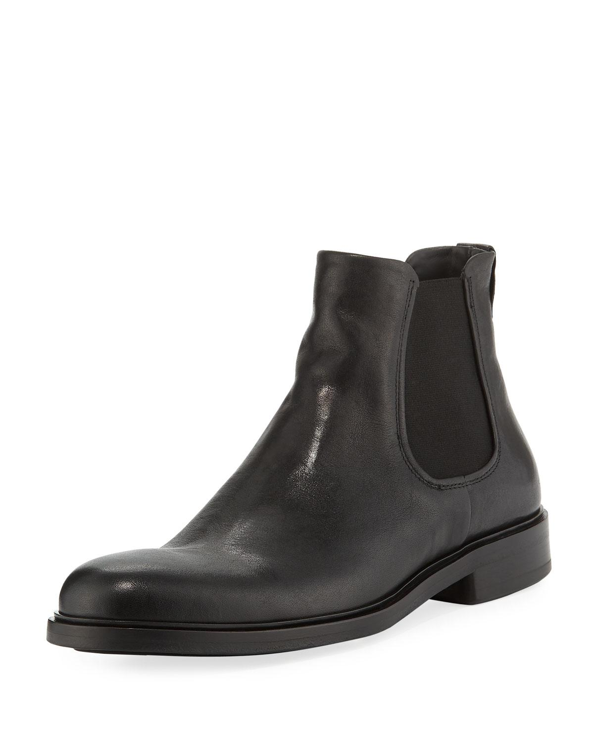 d21bf29c1 Lyst - Vince Men's Burroughs Leather Chelsea Boots in Gray for Men