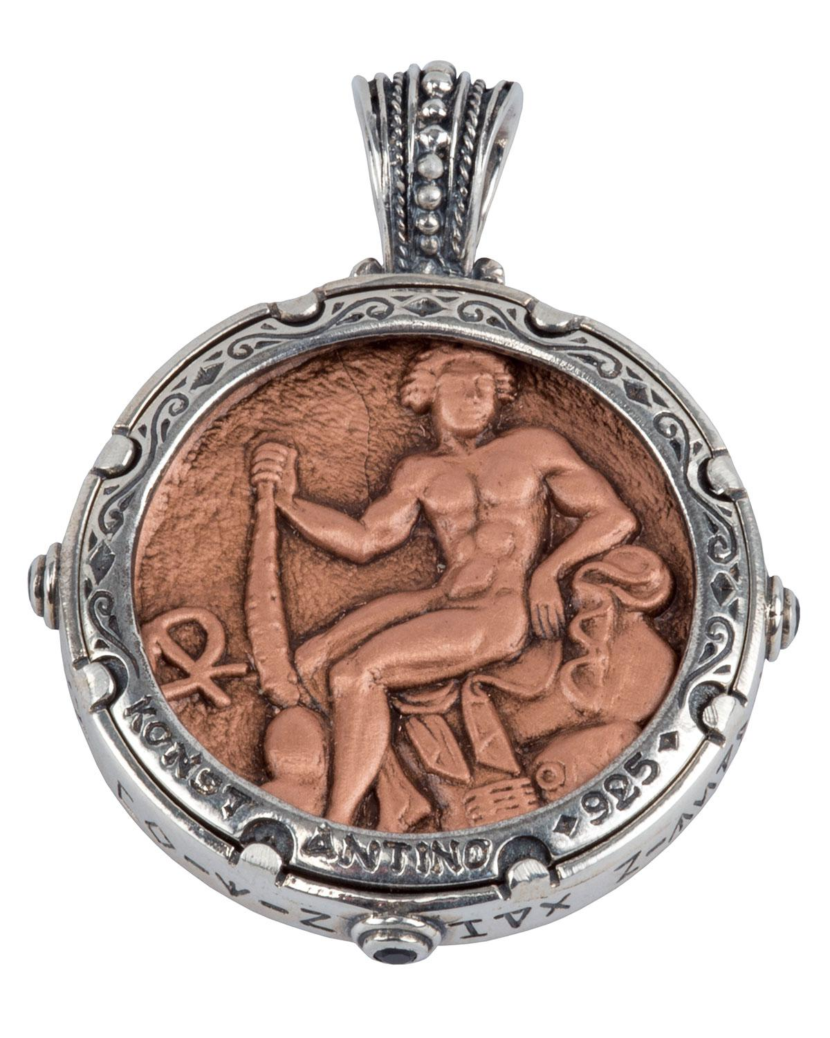 Lyst konstantino mens sterling silver copper zeus pendant w gallery mozeypictures Gallery