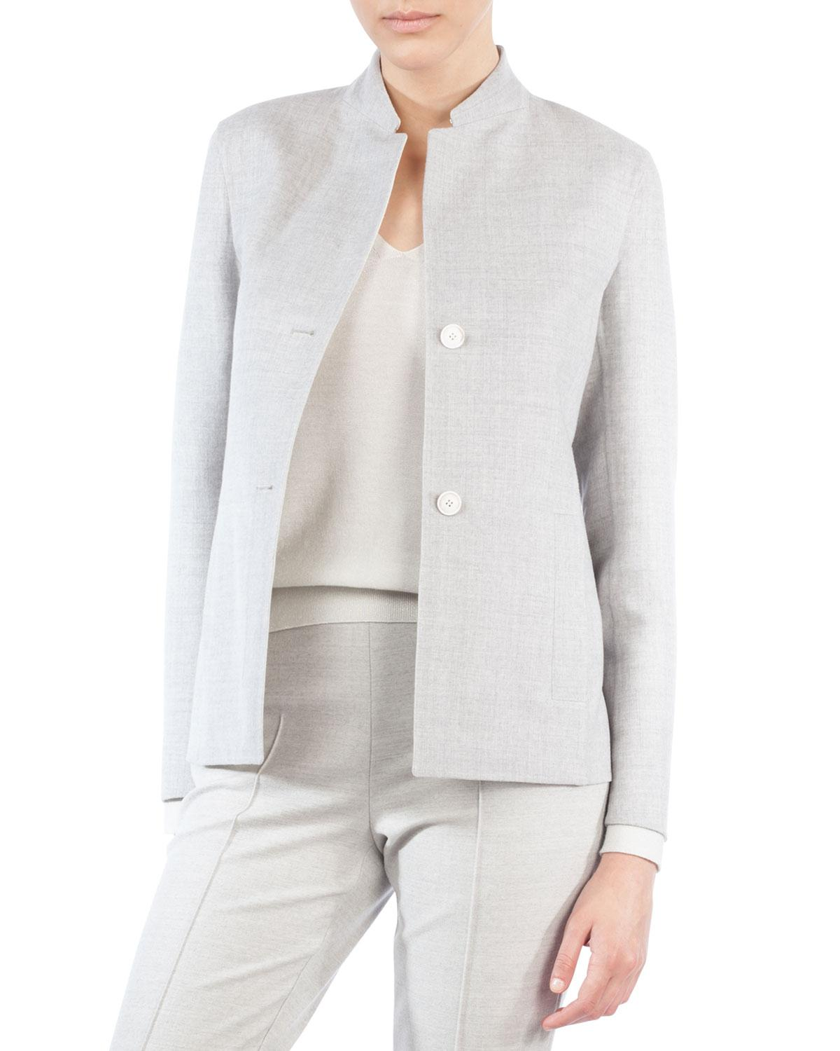 Akris Mock Neck Tweed Jacket Quality From China Cheap Latest Collections Online Discount Lowest Price Discounts ECXPCmTFd