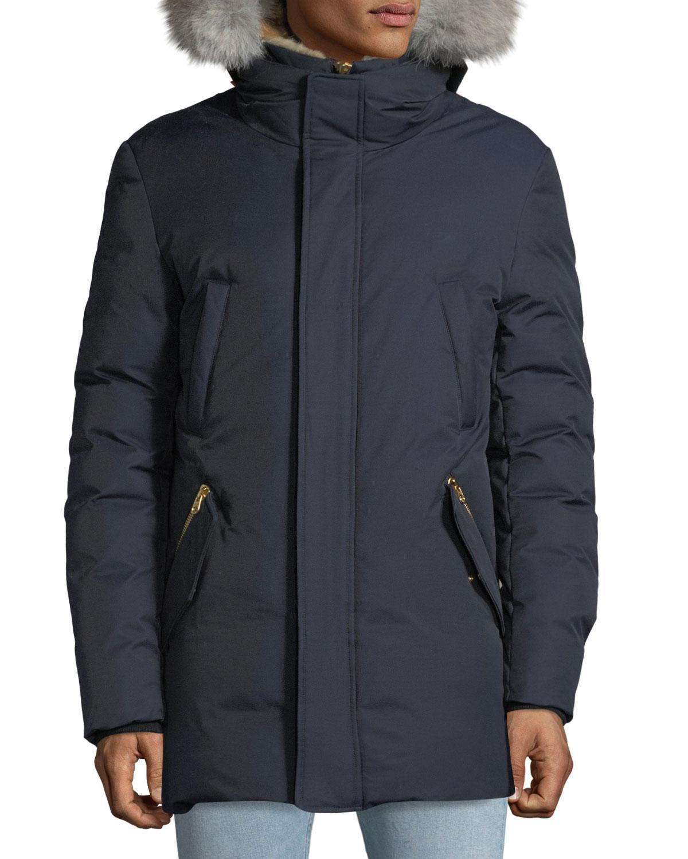 6277fb72f Lyst - Mackage Edward Lux Down Jacket in Blue for Men