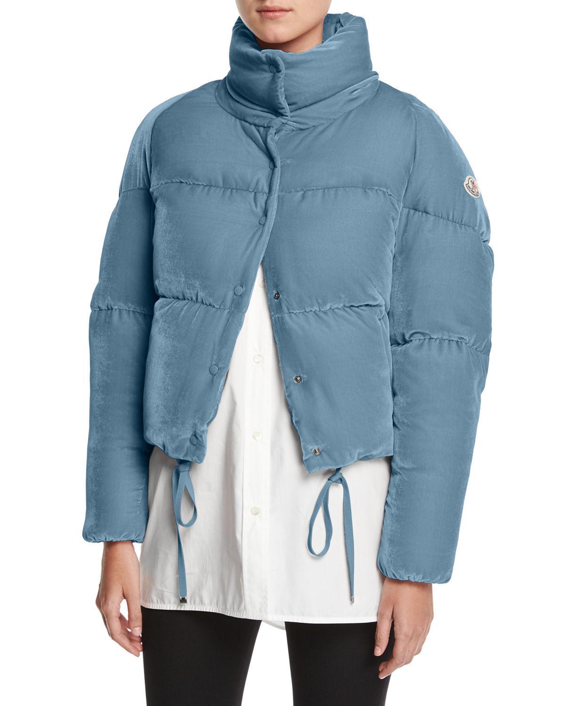 moncler velvet coat