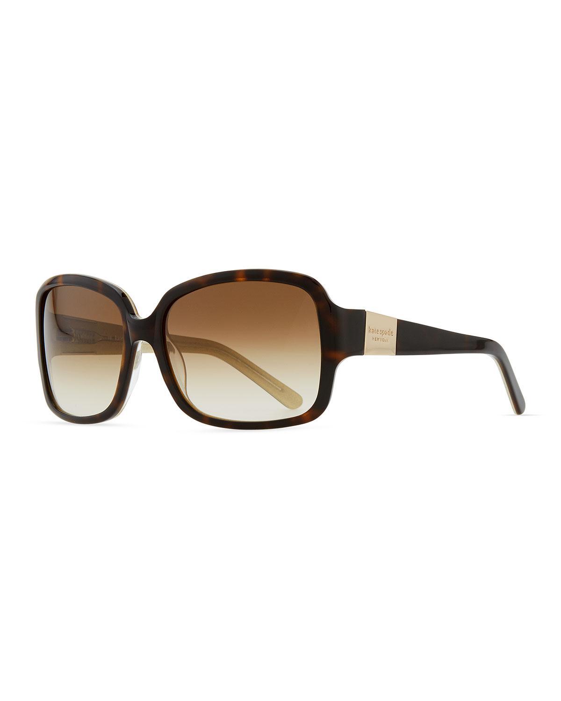 754ea2bf8a8 Kate Spade - Brown Lulu Square Sunglasses - Lyst. View fullscreen