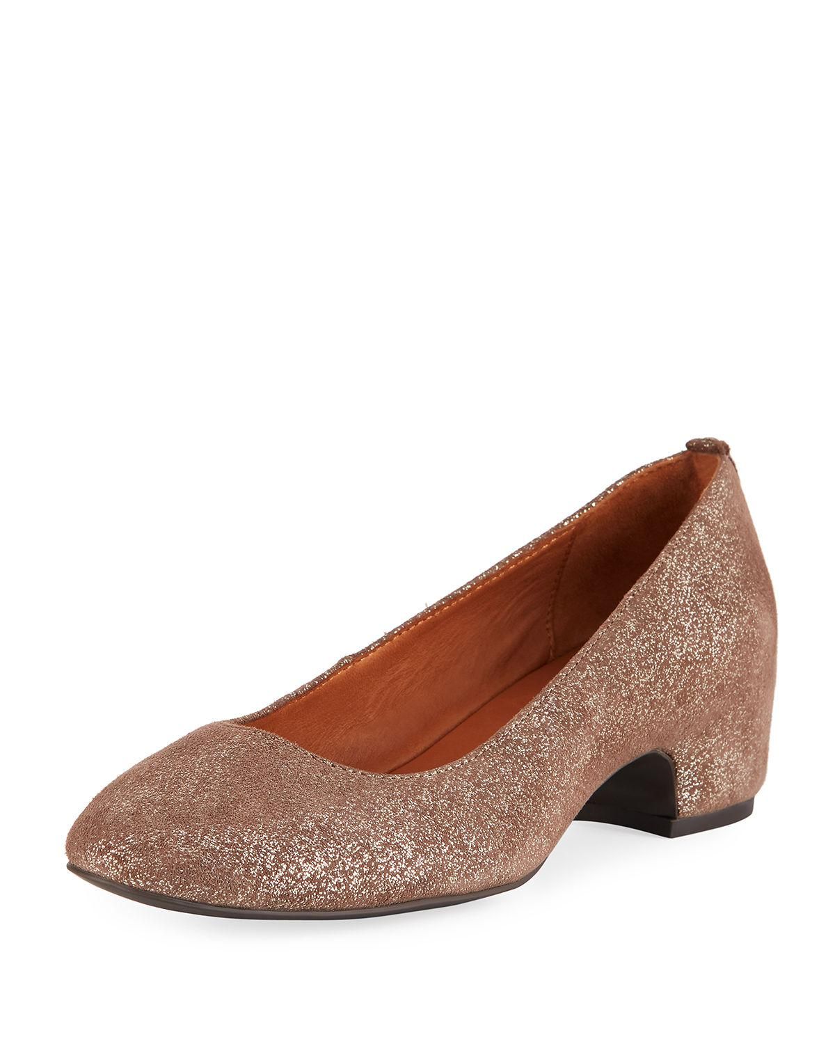 31c73e00de5 Gentle Souls. Women s Brown Priscille Crinkled Metallic Leather Low-heel  Pumps