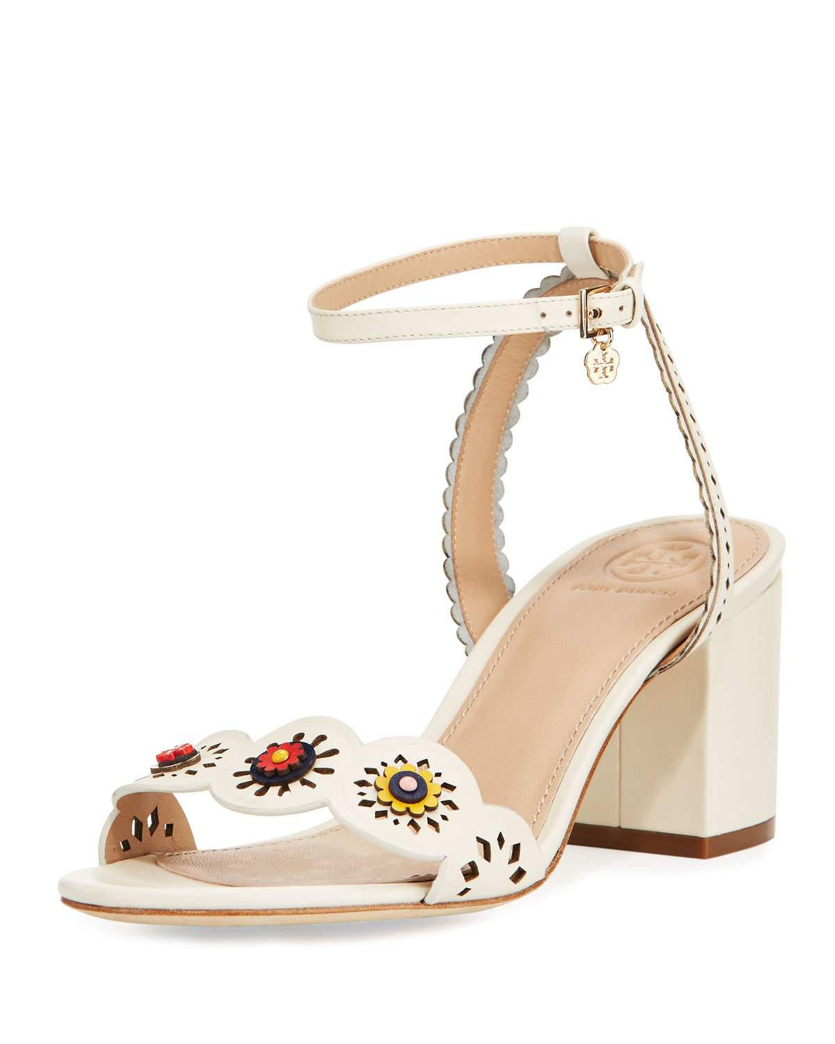 a9a0a1f13dd1be ... Tory Burch Marguerite Perforated Low-heel Sandal in White - Lyst  official site 684a0 f7e6d ... TORY BURCH Marguerite floral-appliquéd leather  ...